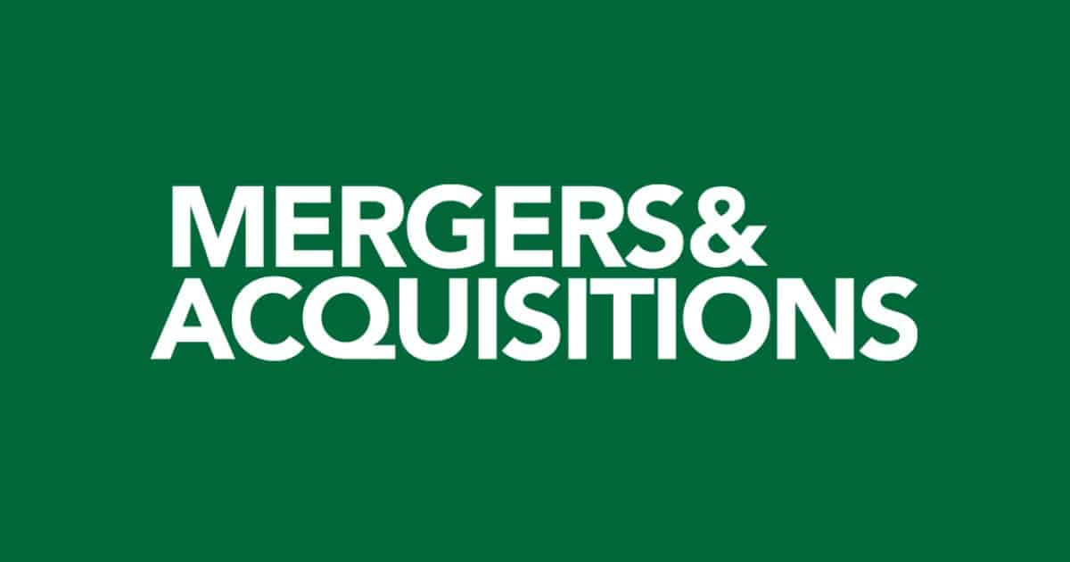 Mergers and Acquisitions logo.